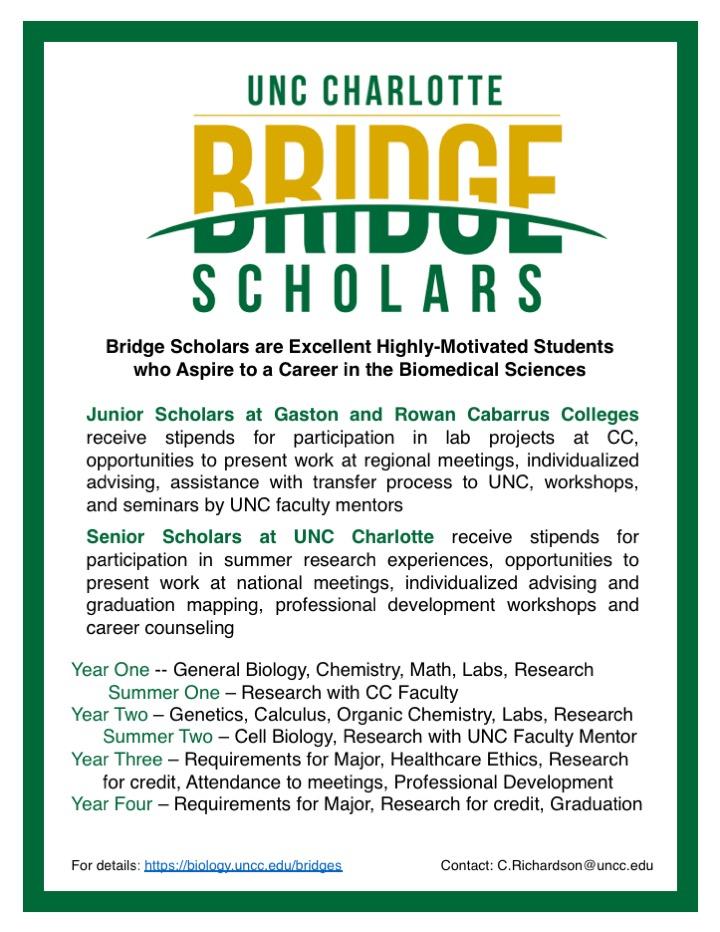 Bridges Scholar | Department of Biological Sciences | UNC
